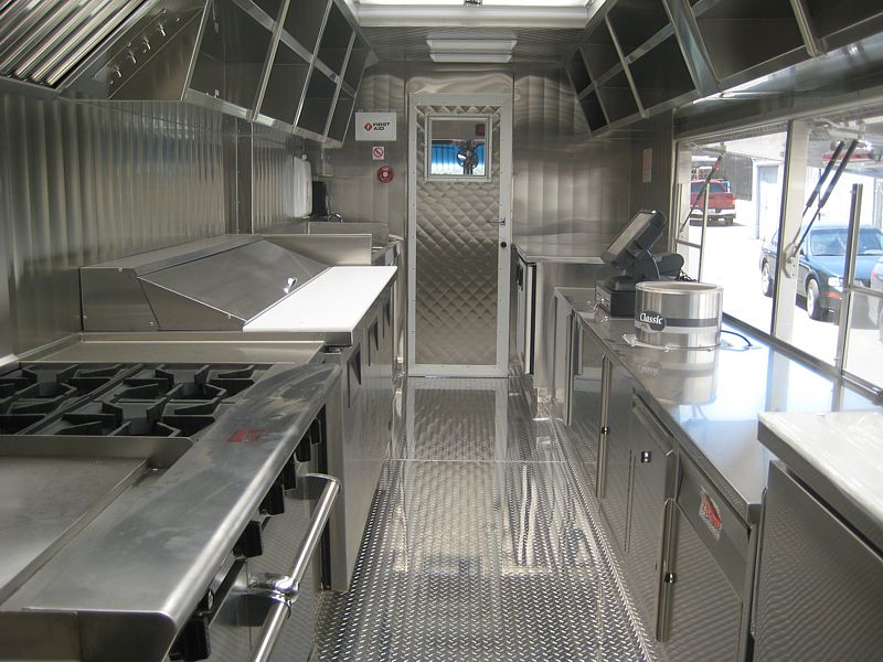 Sam's Chowder House Food Truck Interior