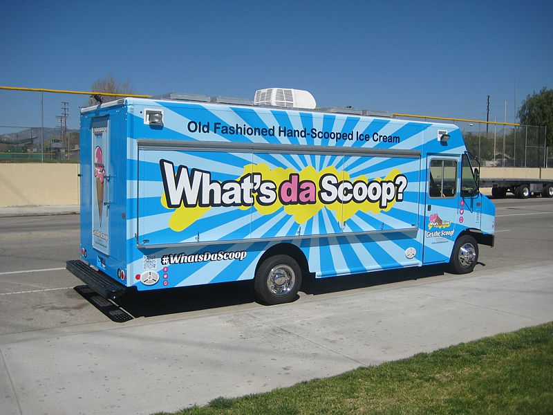 What's Da Scoop Gourmet Ice Cream Truck Exterior